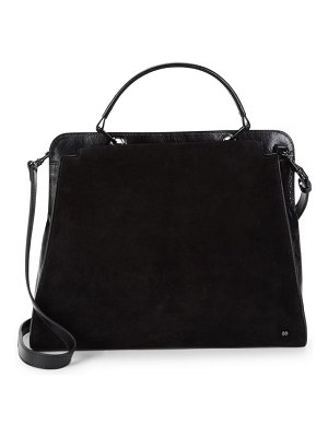 Halston Leather Tote Satchel