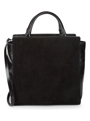 Halston Leather Tote Shoulder Bag