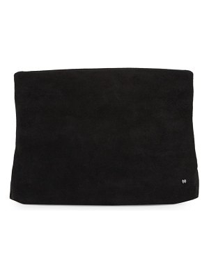Halston Classic Suede Clutch