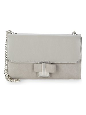 Halston Embossed Leather Shoulder Bag