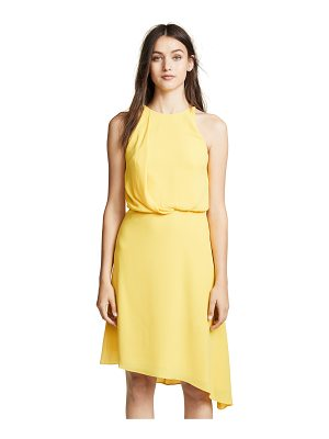 Halston flowy draped back dress