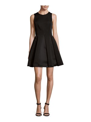 Halston Roundneck Fit-&-Flare Dress
