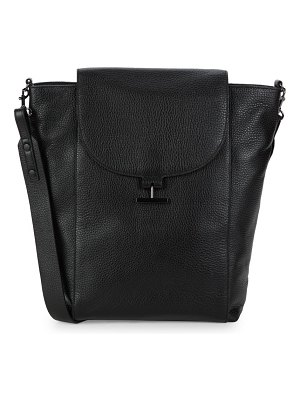 Halston Large Leather Shoulder Bag