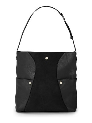 Halston Leather Hobo Shoulder Bag