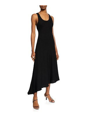 Halston Mazie Asymmetric Racerback Dress