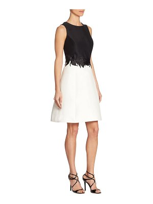 Halston Roundneck Colorblock Dress