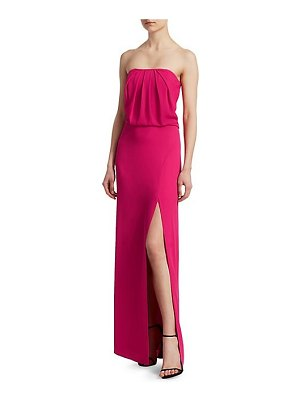 Halston strapless draped gown