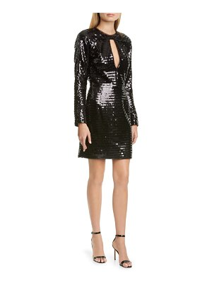 HANEY alexandra long sleeve sequin cocktail dress