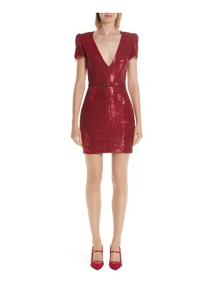 HANEY lyz sequin v-neck minidress