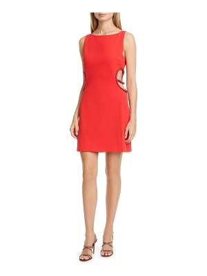 HANEY roselyn cutout cocktail dress