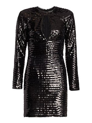 HANEY stacked sequin cocktail dress