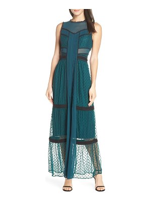 Harlyn embroidered dot evening dress