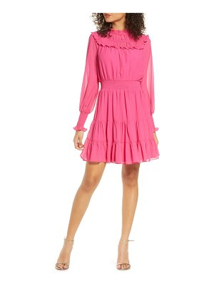 Harlyn gathered ruffle long sleeve minidress