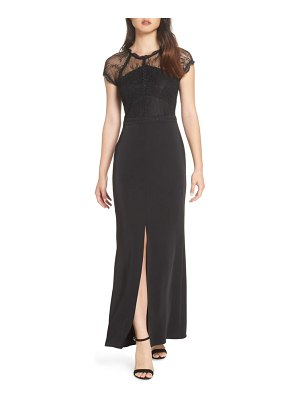 Harlyn lace cap sleeve gown
