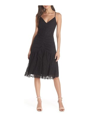 Harlyn ruched front lace midi dress