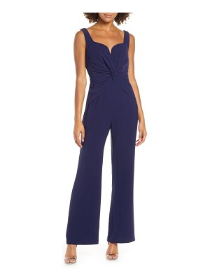 Harlyn twist front sleeveless jumpsuit