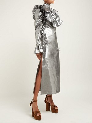 Harris Reed ruffled metallic midi dress