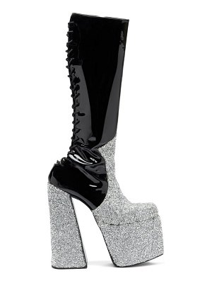 Harris Reed x Roker the h crystal and patent-leather platform boots
