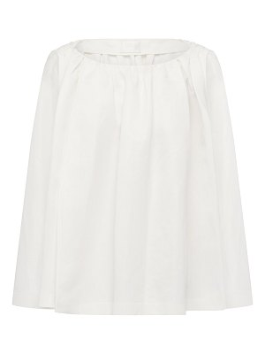 Harris Tapper ines pleated silk-cotton top