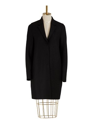 Harris Wharf Cocoon coat in felted wool
