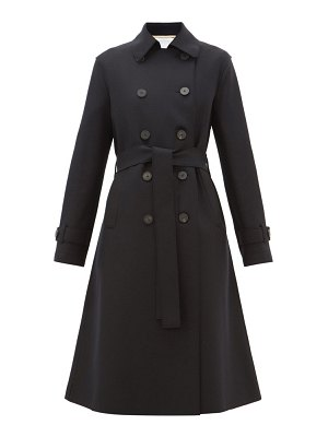 Harris Wharf London double-breasted felted-wool trench coat