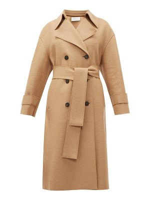Harris Wharf London double breasted wool trench coat