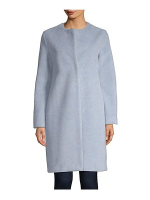 Harris Wharf London faux fur collarless coat