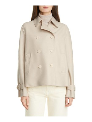 Harris Wharf London pressed wool crop trench coat