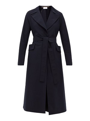 Harris Wharf London single-breasted belted shell coat