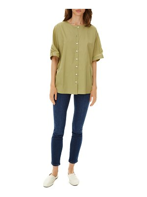 HARSHMAN Aelin Button-Front Twill Top