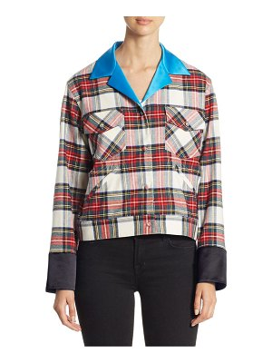 Harvey Faircloth Plaid Button-Front Jacket