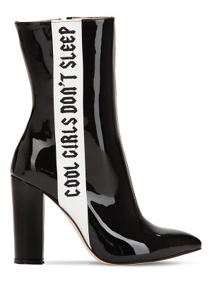 HAVVA 100mm cool girls patent leather boots