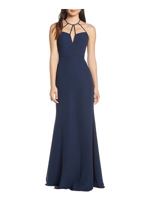 Hayley Paige Occasions strappy detail chiffon evening dress
