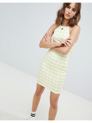 Heartbreak cami dress in gingham print-yellow