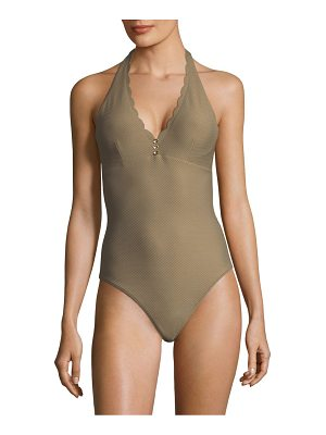 Heidi Klein one-piece halter swimsuit