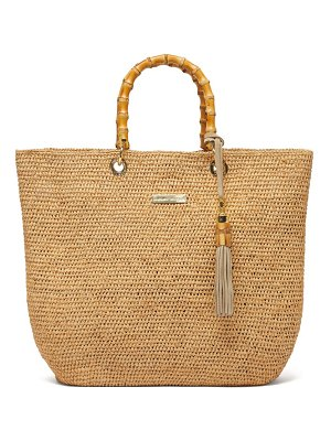 Heidi Klein savannah medium bamboo-handle raffia tote bag