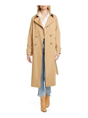 Helene Berman double breasted belted stretch cotton trench coat
