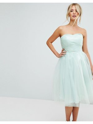Hell Bunny bandeau tulle dress-green