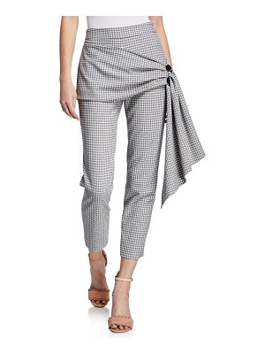 Hellessy Desmond Stretch Check Pencil Pants