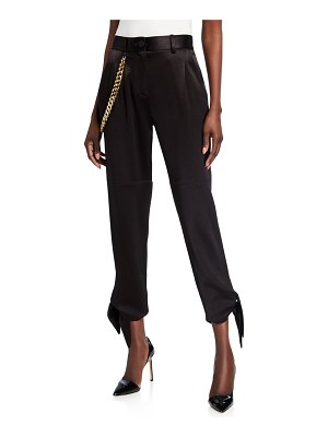 Hellessy Donker Slim Tie Pants with Chain