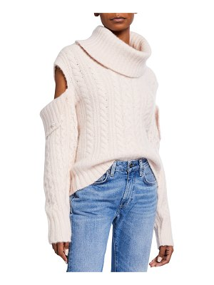 Hellessy Eniko Cashmere Cutout Sweater w/ Pearl Detail