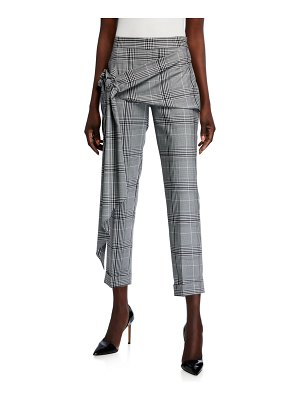 Hellessy Pierre Plaid Sash-Waist Pants