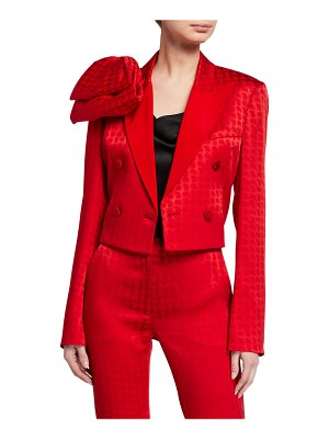 Hellessy Walsh Jacquard Bow-Shoulder Jacket