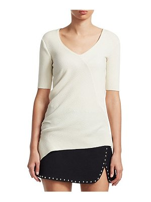 Helmut Lang accordion ribbed cotton tee