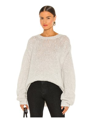 Helmut Lang alpaca brushed sweater