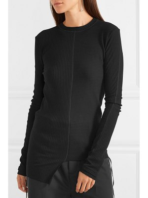 Helmut Lang asymmetric ribbed cotton-jersey top