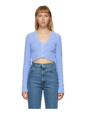 Helmut Lang blue crop cardigan