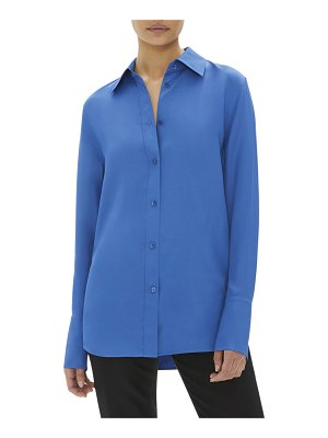 Helmut Lang Button-Down Long-Sleeve Viscose Shirt