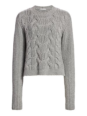 Helmut Lang cable-knit lambswool sweater