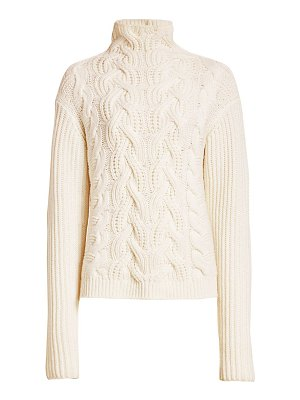 Helmut Lang cable-knit lambswool turtleneck sweater